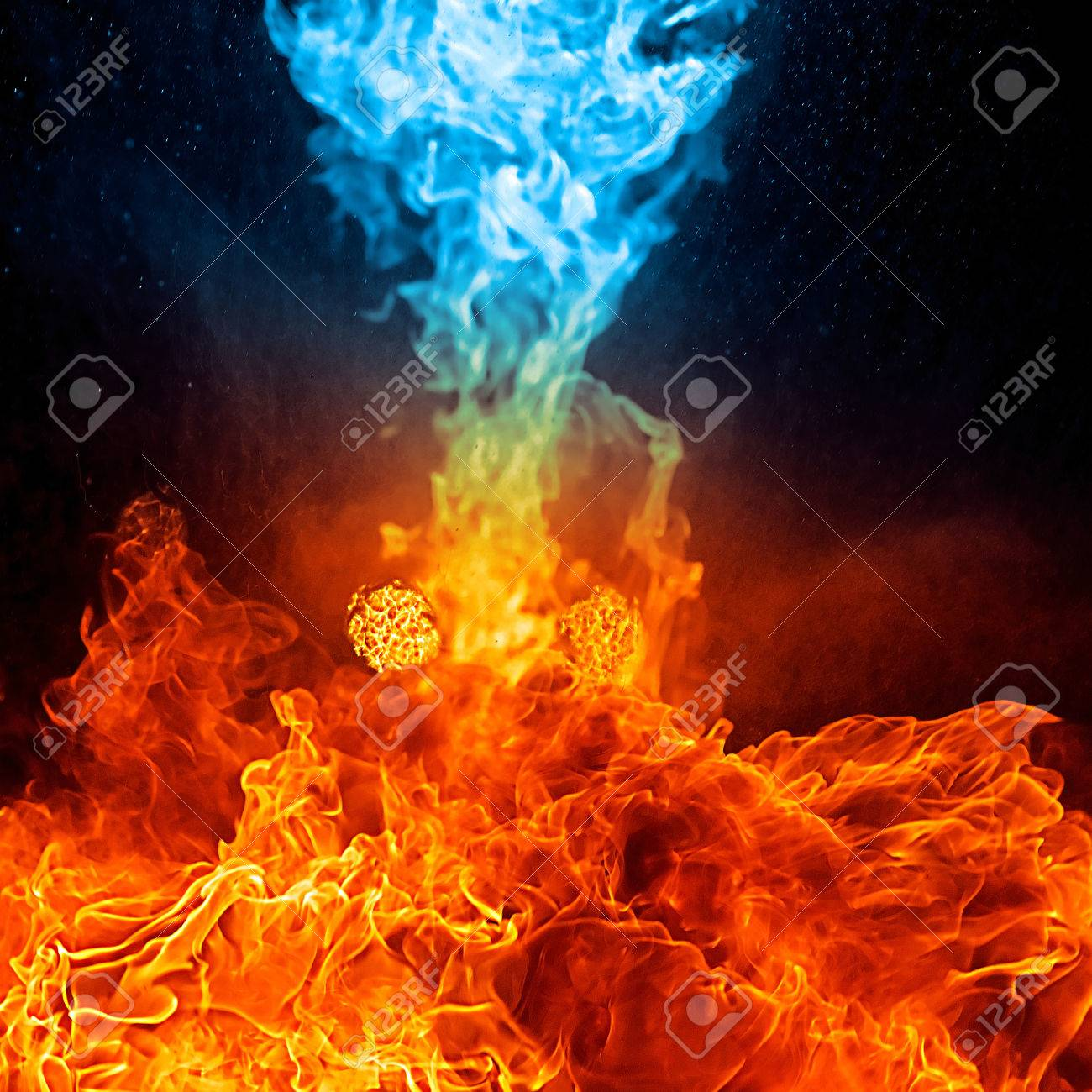 1300x1300 - Red and Blue Fire 19