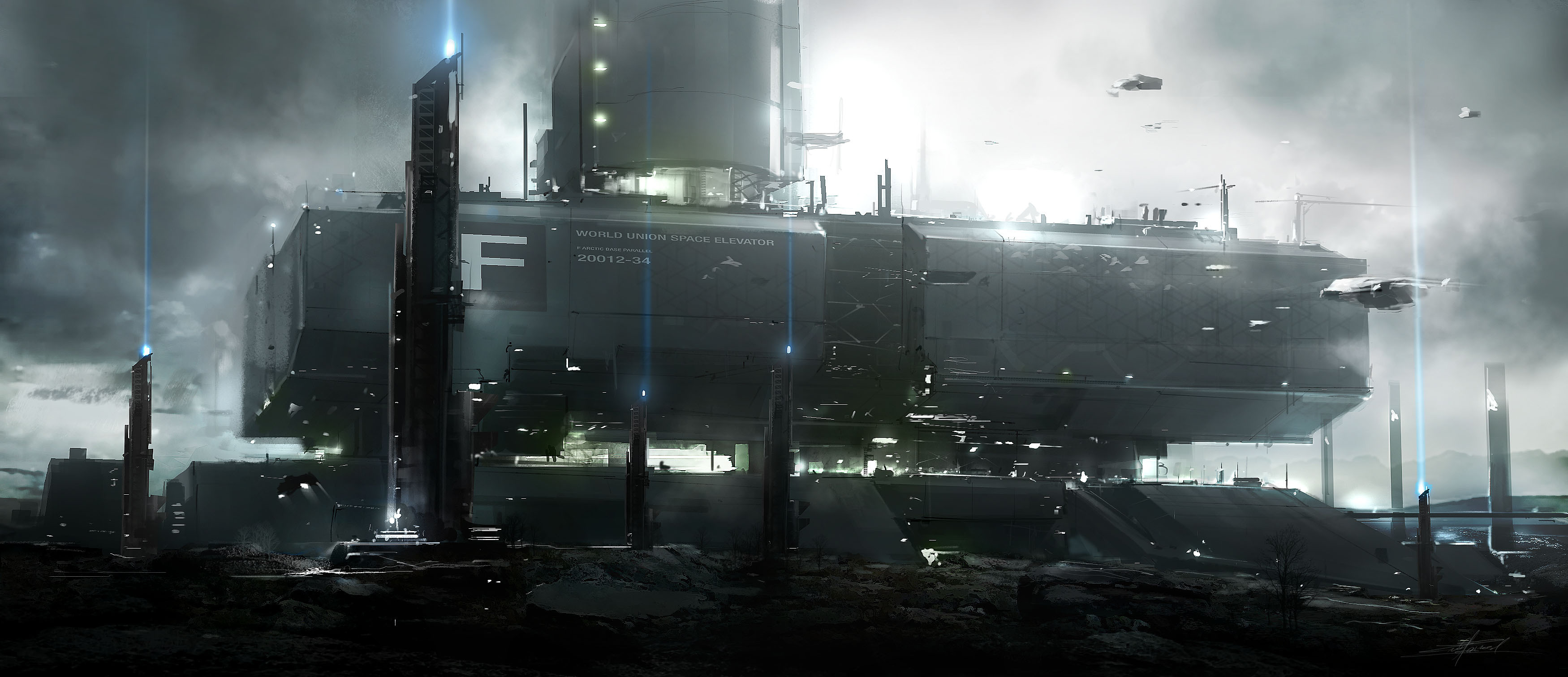 3500x1512 - Sci Fi Building Wallpapers 1