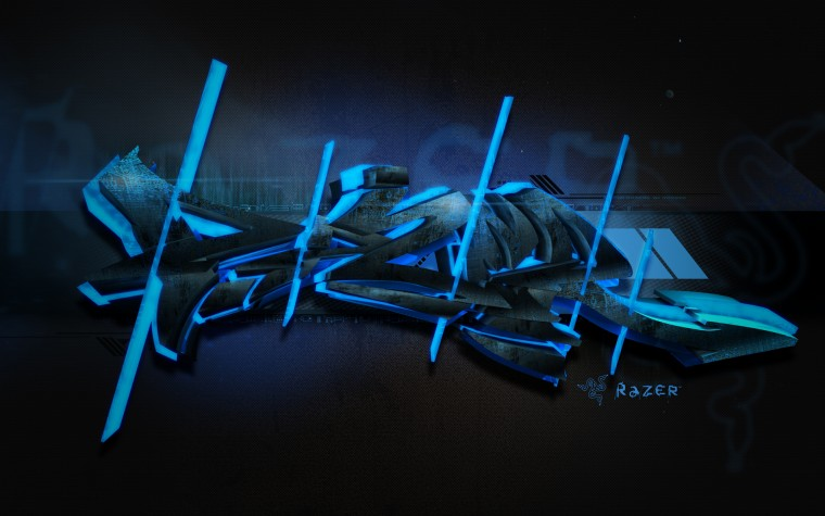 Razer Blue Graffiti Wallpapers